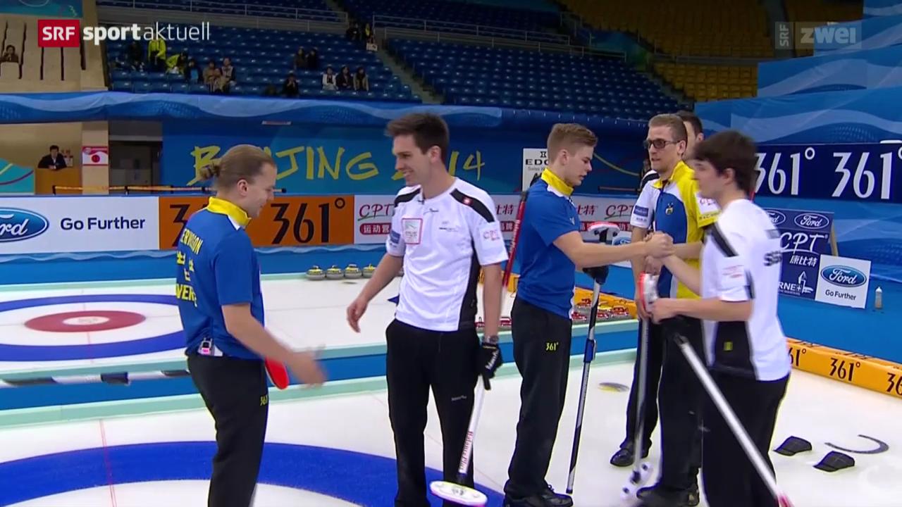 Curling: Playoff-Spiel Schweiz - Schweden