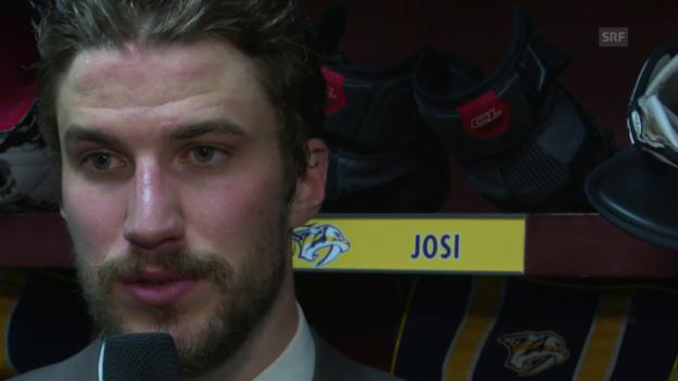 Video «Das sagt Josi zu seinem Treffer und zum Sieg» abspielen