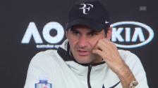 Link öffnet eine Lightbox. Video Federers Ausblick an der PK abspielen