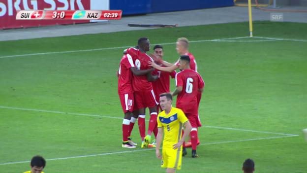 Video «Die Tore bei Schweiz - Kasachstan» abspielen