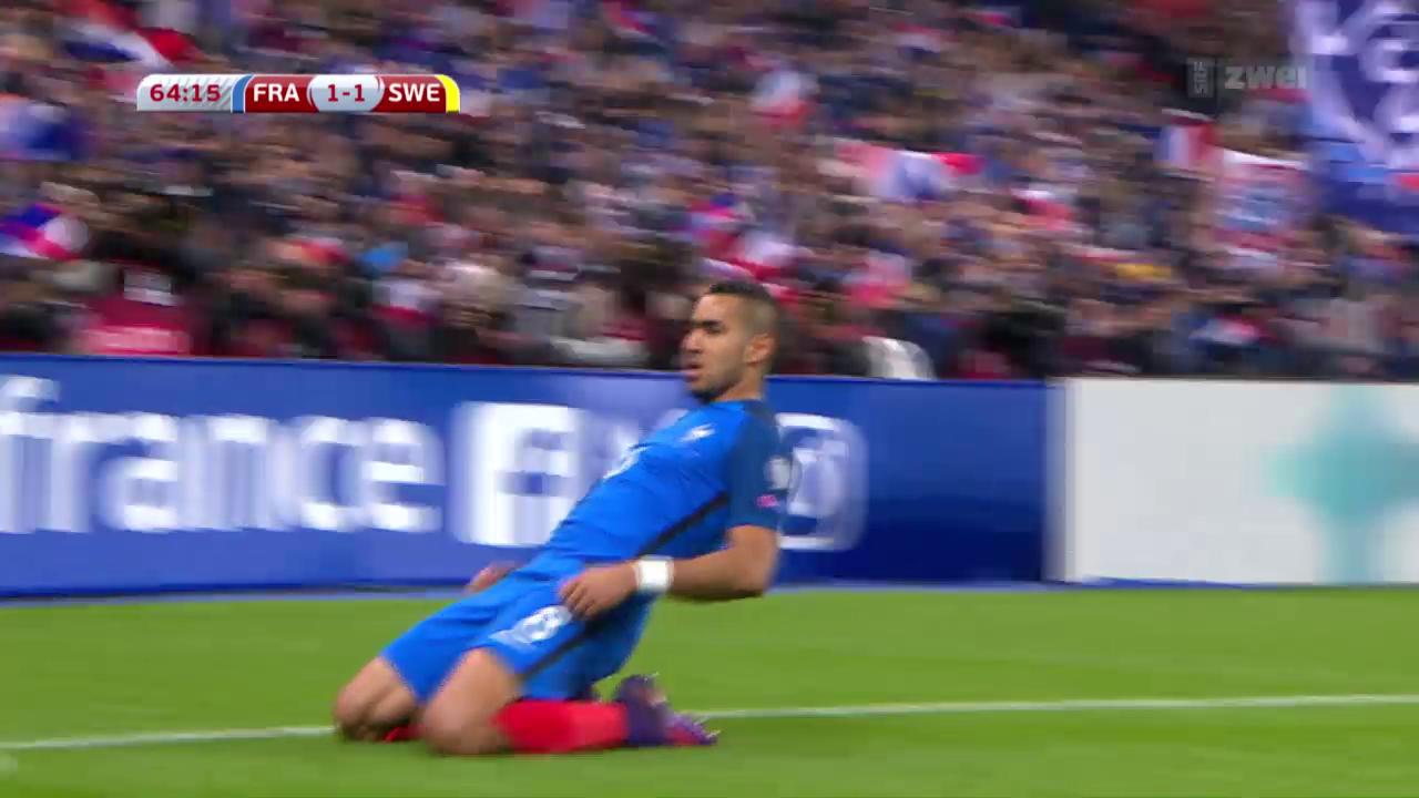 Frankreich dreht Partie gegen Schweden