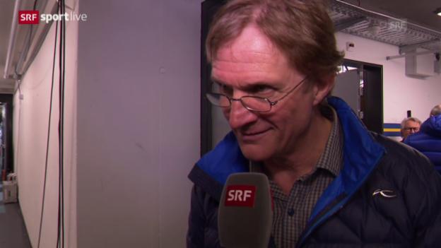 Video «Eishockey: Interview Del Curto nach Spiel 2» abspielen