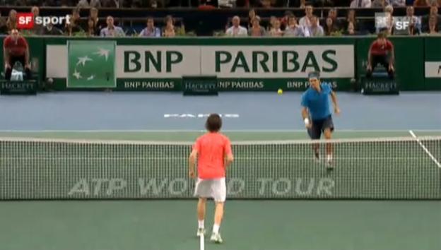 Video «Federer - Mannarino in Paris-Bercy 2011» abspielen