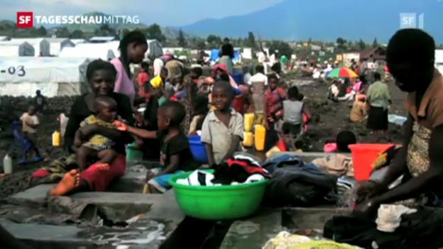 Video «Im Kongo sind Zehntausende auf der Flucht («Tagesschau», 21.11.2012, 12.45 Uhr)» abspielen