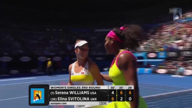Video «Tennis: Australian Open, 3. Runde, S.Williams-Switolina» abspielen
