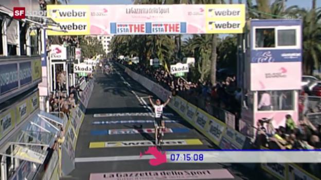 Video «Rad: Cancellaras Sieg bei Mailand - San Remo 2008 («sportaktuell», 22.3.2008)» abspielen
