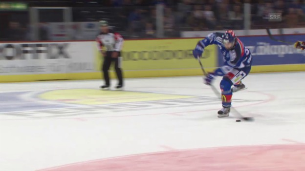 Video «Eishockey: ZSC Lions-Genf, Tor Bastl» abspielen