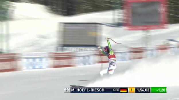 Video «Ski alpin: Die Siegesfahrt von Maria Höfl-Riesch («sportlive»)» abspielen