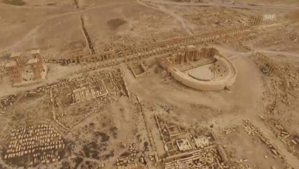 Luftaufnahmen nach der Vertreibung des IS aus Palmyra