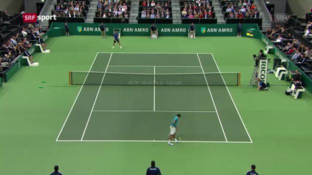 Video «Federer - Benneteau in Rotterdam («sportaktuell»)» abspielen