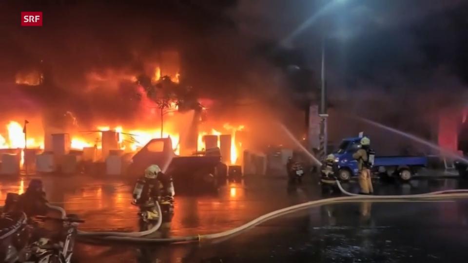 Hochhaus in Taiwan brannte stundenlang