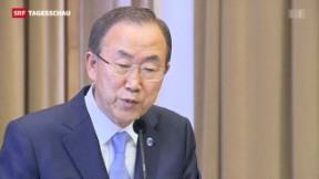 Video «UNO-Generalsekretär Ban Ki-Moon warnt vor einem Eingreifen» abspielen