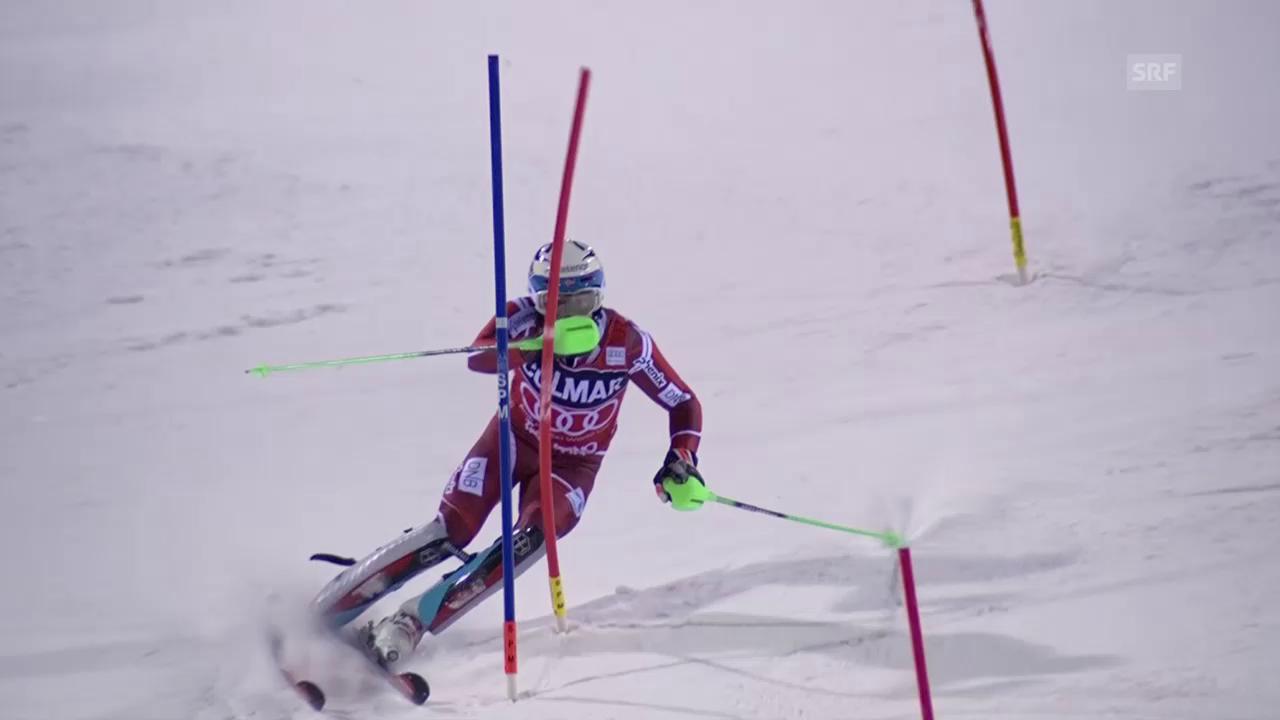 Ski: Slalom, Madonna di Campiglio, 2. Lauf Henrik Kristoffersen