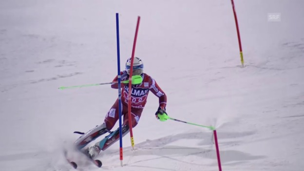 Video «Ski: Slalom, Madonna di Campiglio, 2. Lauf Henrik Kristoffersen» abspielen