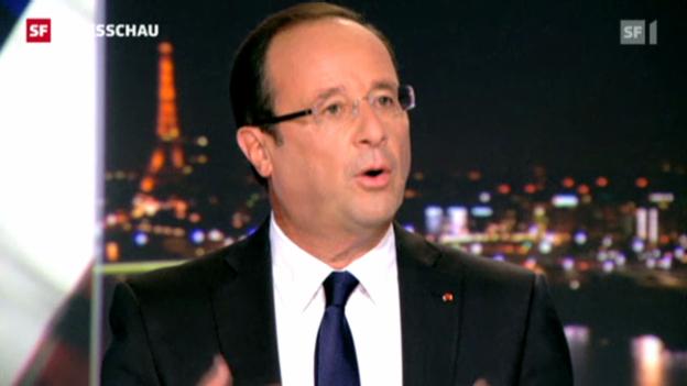 Video «Hollande hält an ehrgeizigem Plan fest (Tagesschau, 10.09.12; 19.30)» abspielen