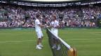 Video «Wawrinka schlägt Fritz und steht in Runde 2» abspielen