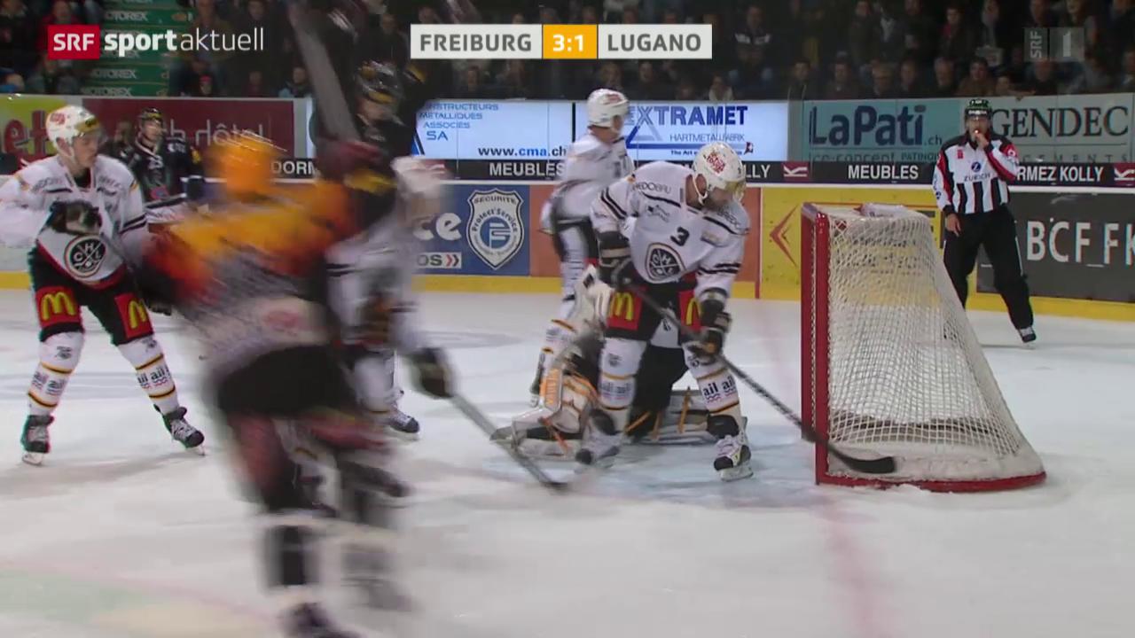 Eishockey: NLA, Freiburg - Lugano