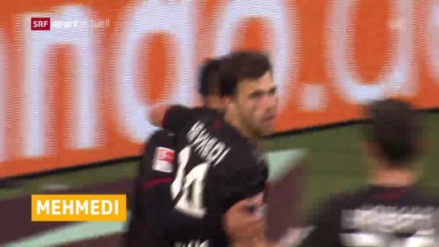 Video «Mehmedi trifft gegen Wolfsburg» abspielen