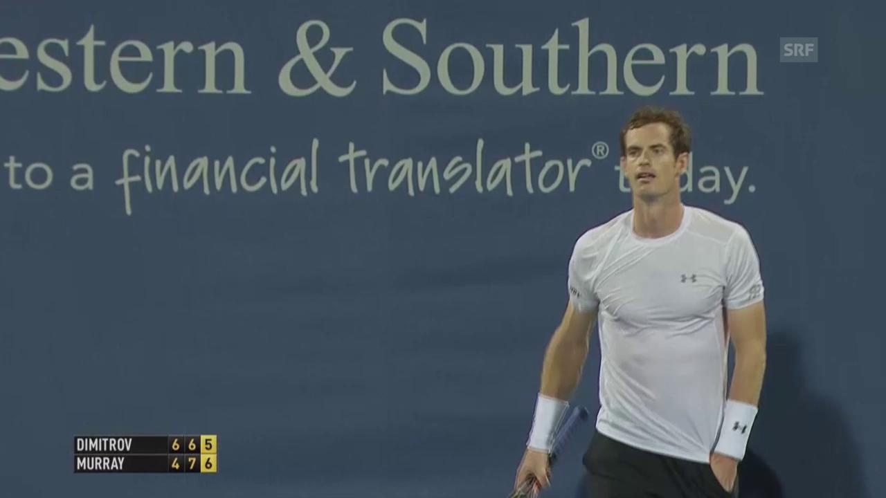 Tennis: ATP Cincinnati 2015, Dimitrov - Murray