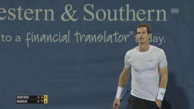 Video «Tennis: ATP Cincinnati 2015, Dimitrov - Murray» abspielen