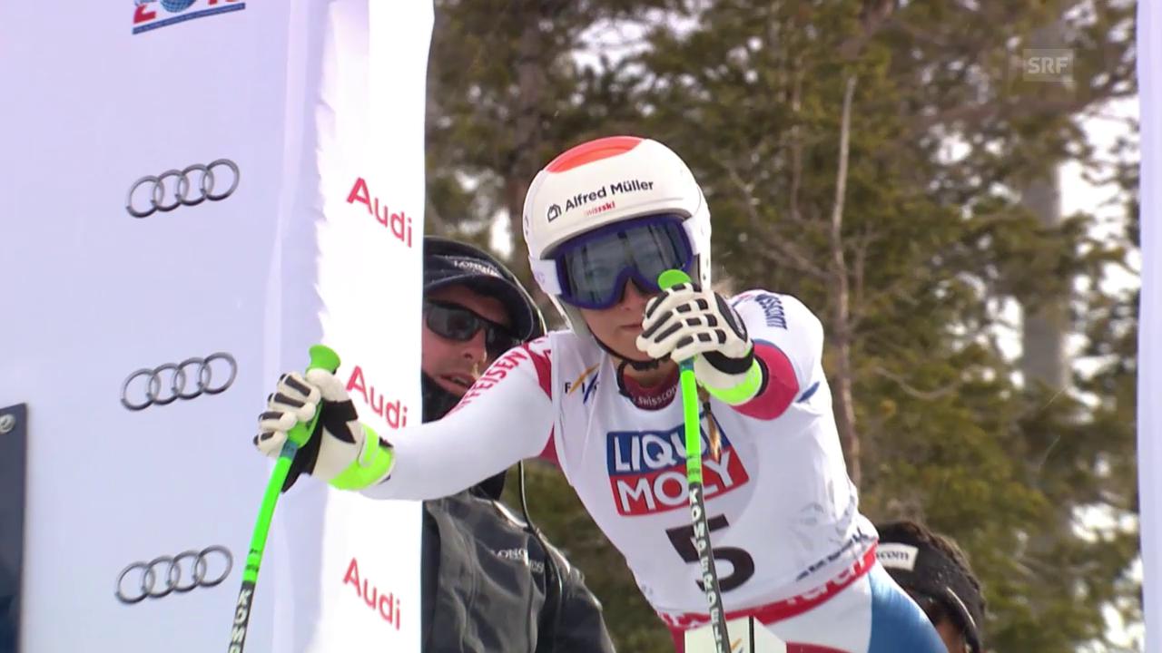 Ski Alpin: WM 2015 Vail/Beaver Creek, Super-G Frauen, die Fahrt von Priska Nufer