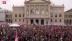 Video «Demonstration für eine offene Schweiz» abspielen