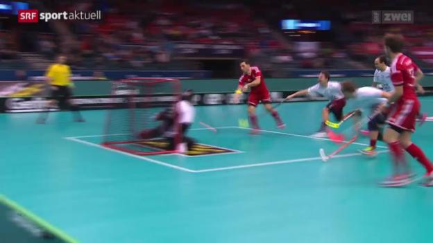 Video «Unihockey: WM-Viertelfinal Schweiz - Lettland» abspielen