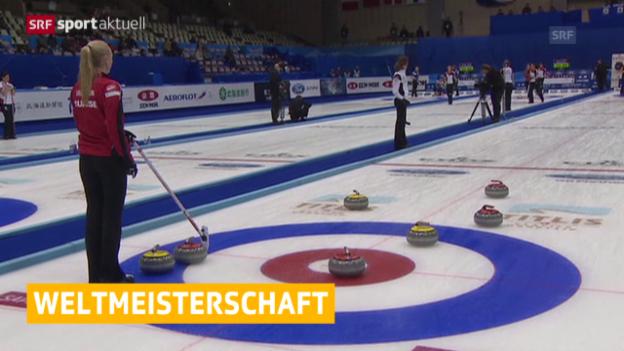Video «Curling: WM in Sapporo, 1. Tag» abspielen