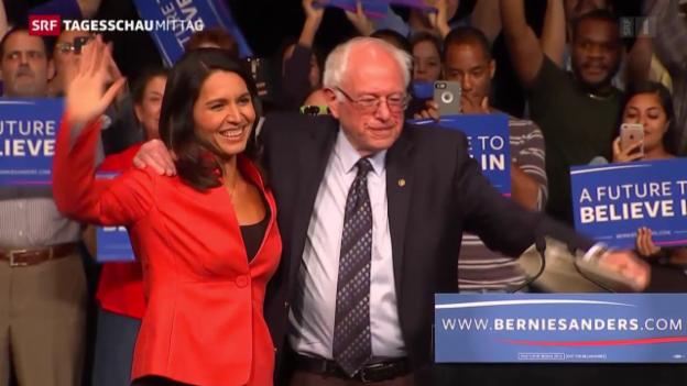Video «Sanders setzt sich überraschend durch» abspielen
