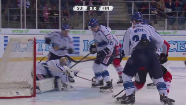 Video «Eishockey: Testspiel Schweiz - Finnland» abspielen