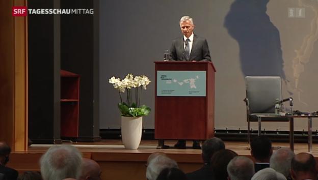 Video «OSZE-Chef Burkhalter setzt auf den Dialog im Ukraine-Konflikt» abspielen