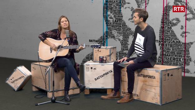 Laschar ir video «Martina Linn preschenta ses nov disc»