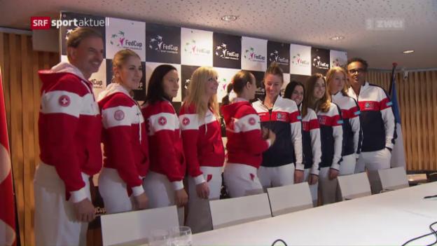 Video «Das Schweizer Fed-Cup-Team vor dem Duell mit Frankreich» abspielen