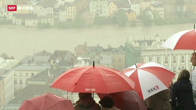 Die Hochwasser-Situation in Deutschland, Tschechien und Österreich