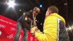 Video «Aerni und Caviezel erhalten ihre WM-Medaillen» abspielen