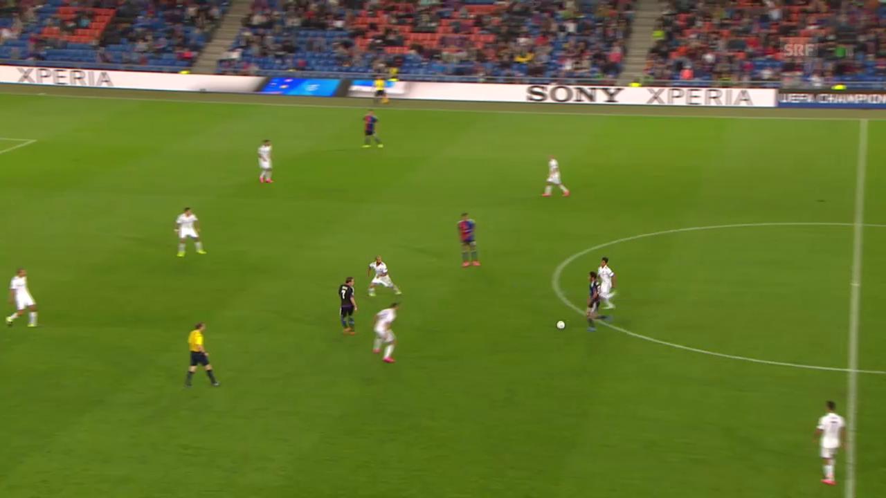 Fussball: CL-Playoff, Basel-Maccabi, Tor zum 2:1
