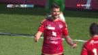 Video «Abstiegskandidat Vaduz fertigt Lieblingsgegner St. Gallen mit 3:0» abspielen