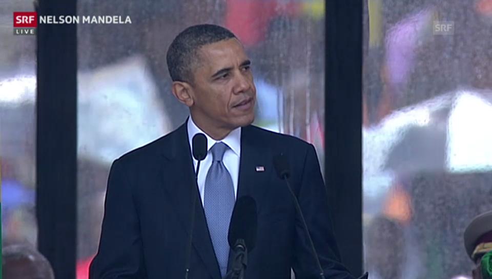 Obamas Rede an der Trauerfeier