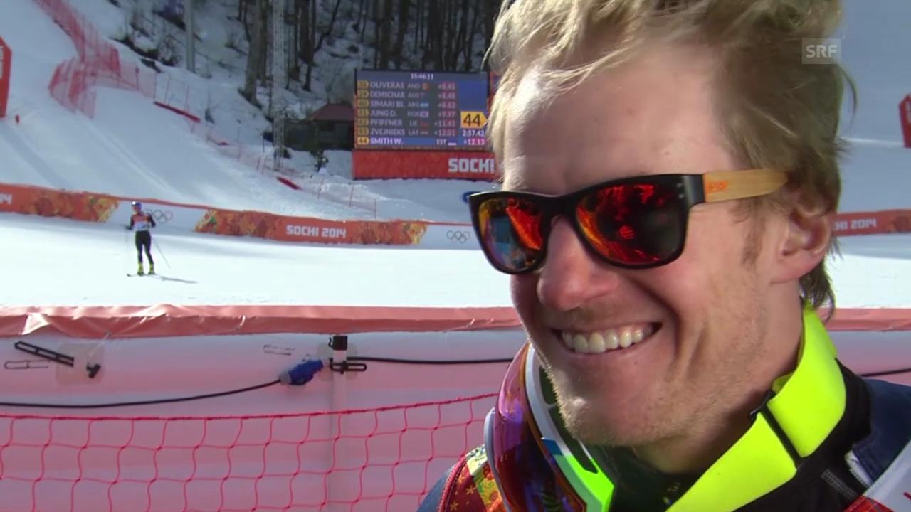 Ski: Riesenslalom Männer Sotschi, Interview mit Ted Ligety (sotschi direkt, 19.2.14)
