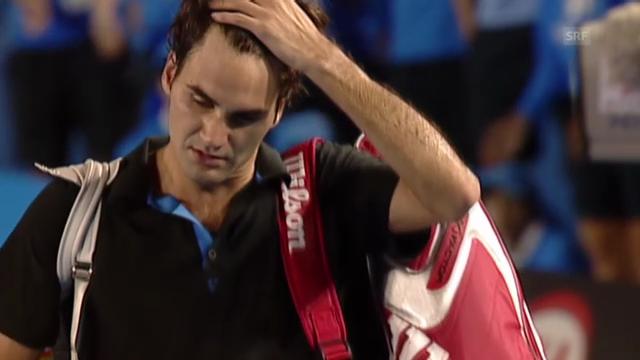 Federers Dreisatz-Niederlagen bei Grand-Slam-Turnieren