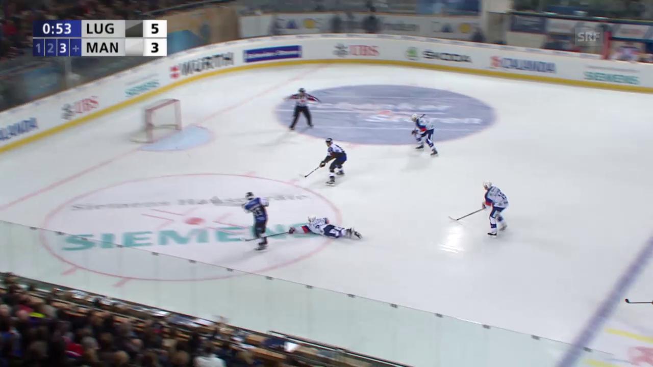 Eishockey: Spengler Cup 2015, Lugano-Adler Mannheim, 6:3 Bertaggia