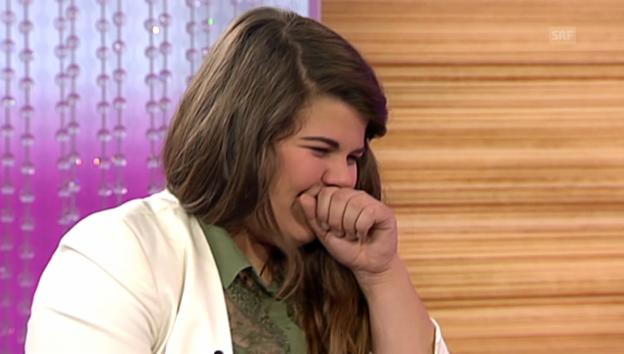 Video «Tiziana Gulino kämpft bei «g&g weekend» mit ihrem Reizhusten» abspielen