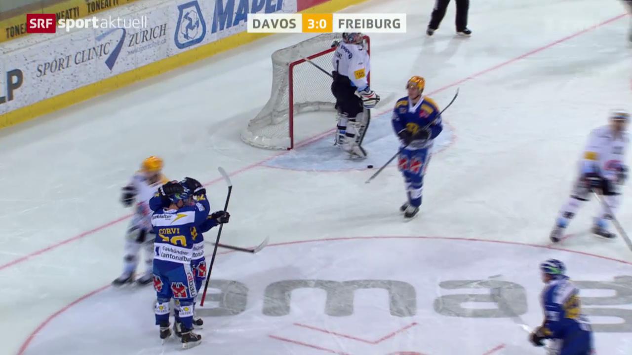 Eishockey: NLA, Davos - Freiburg