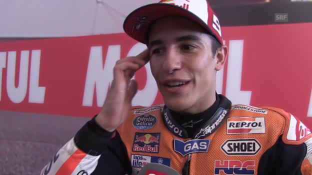 Video «Motorrad: GP Assen, Interview mit Marc Marquez» abspielen