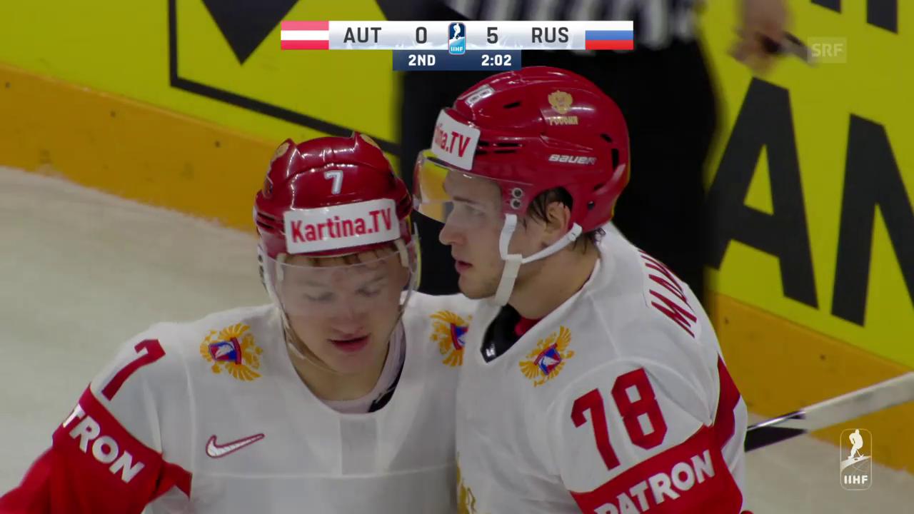 Russland kantert Österreich nieder