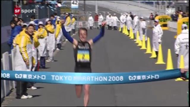 Marathon: Viktor Röthlins Sieg in Tokio 2008