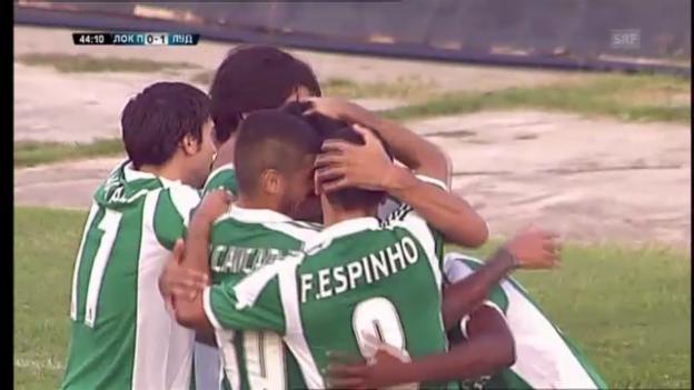 Video «Liga: Ludogorets besiegt Plovdiv, das Siegestor» abspielen