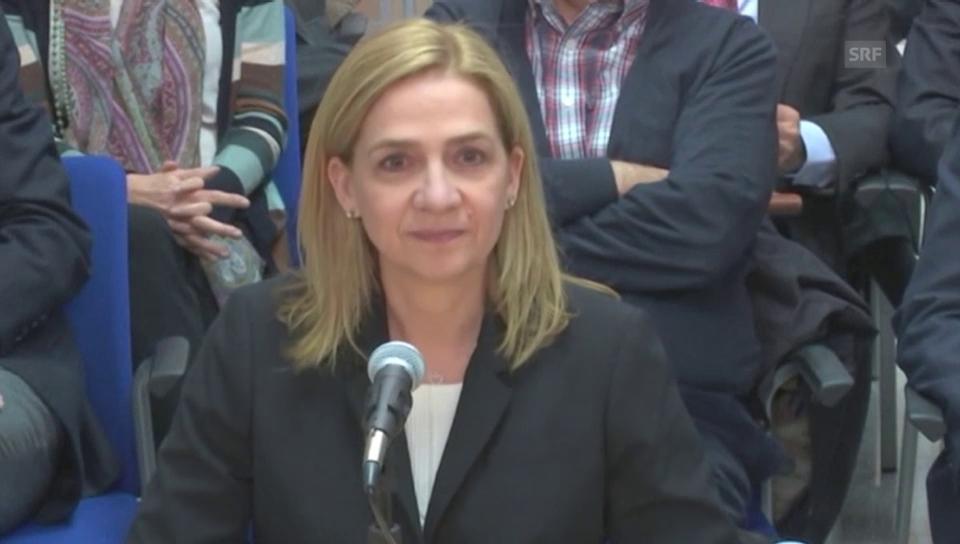 Infantin Cristina verantwortet sich vor Gericht