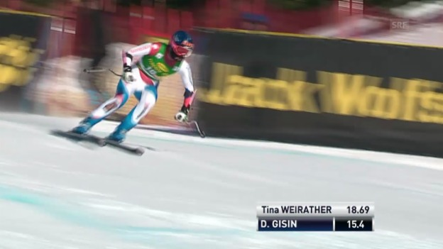 Video «SKI: Super-G-Lauf von Dominique Gisin» abspielen