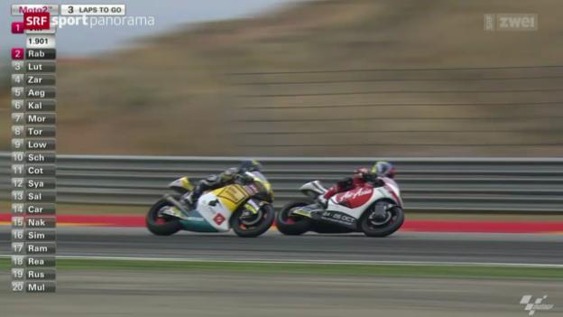 Video «Motorrad: Moto2-GP von Aragon» abspielen
